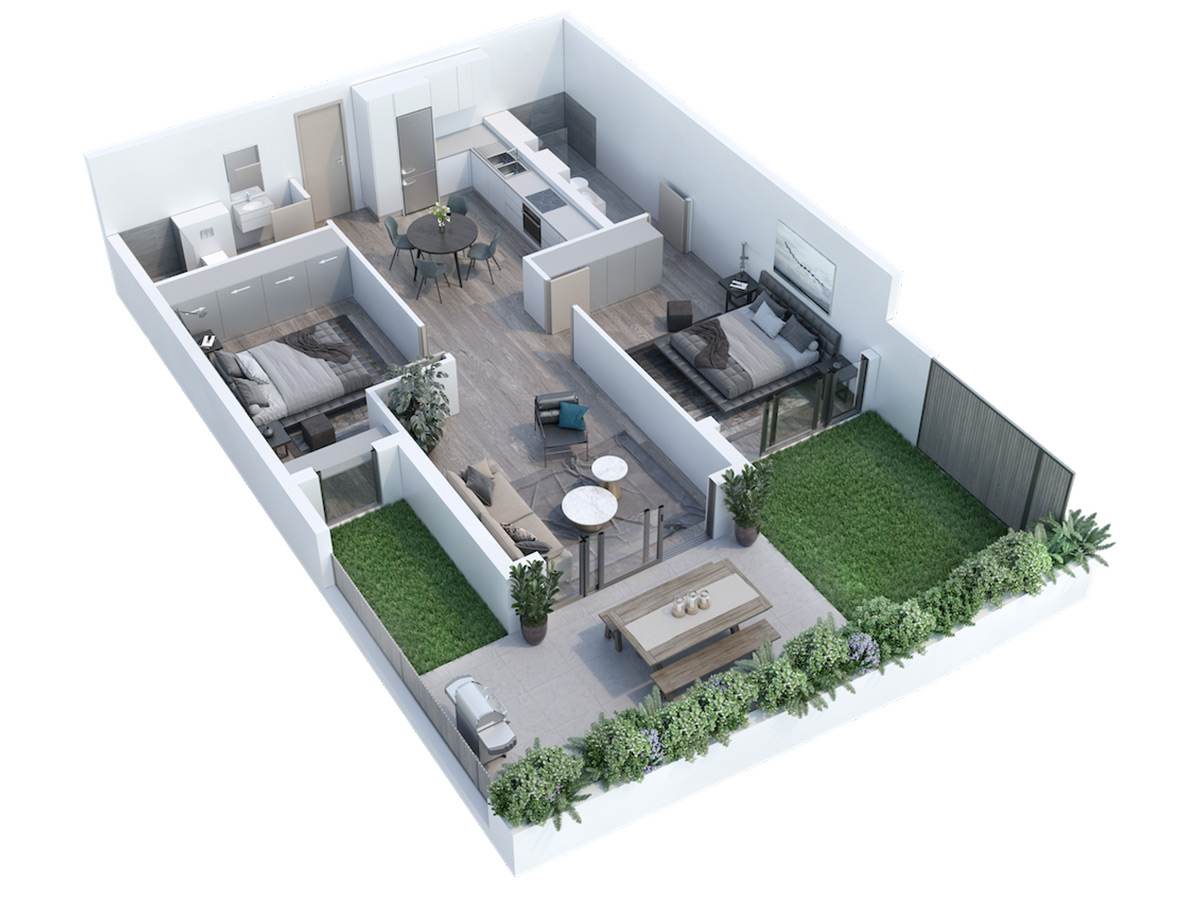 Two Bedroom Apartment, Newlands Peak, Rawson Developers, Luxury Cape Town Apartments